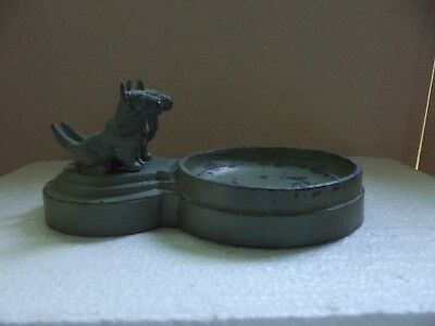 ***ANTIQUE*TERRIER** NUART** CAST SPELTER METAL*Coin,Ring,Trinket or Ash Tray***