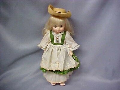 "Madame Alexander Heidi 13"" DOLL WITH HAT AND oRIGINAL BOX"