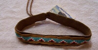 Hand Made Beaded Hat Band Rendezvous Black Powder Mountain Man 4