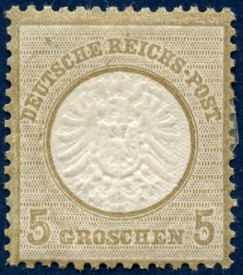 Germany 1872-74 mint 5 g brown, large shield