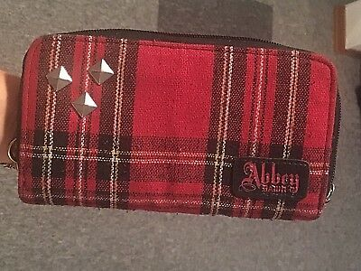 Abbey Dawn by AVRIL LAVIGNE wallet - red plaid and studded
