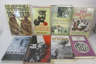 World War 1 themed book collection x 24 titles, history, military, job lot