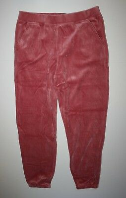 New Gymboree Girls Soft Velour Jogger Style Pants 14 year Coral Pink Lounge Wear