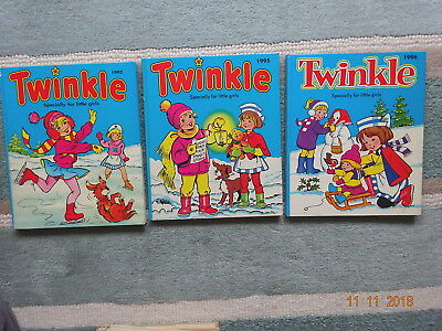 3 x TWINKLE for LITTLE GIRLS HB ANNUALS - 1992,1995,1996