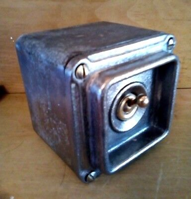 Factory Reclaimed Britmarc Single Industrial Light Switch Crabtree Steam Punk