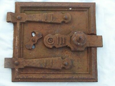 A nice old vintage cast iron door for wood burner oven door Pat No 253490 1926