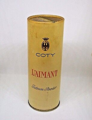 VTG Coty L'Aimant Talcum Powder Canister New York-Paris 3.70 oz. No. 355-20