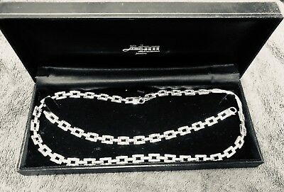 Solid silver necklace and bracelet set , heavy