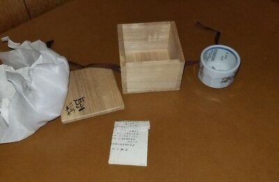 Antique Vintage Japanese Tea Sake Cups With Its Own Wood Box Nice
