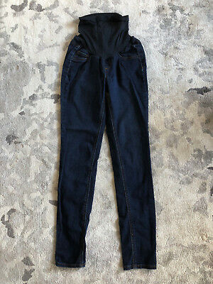 Motherhood Maternity 2018 Jessica Simpson Skinny Dark Wash Jeans Sz S Over Belly