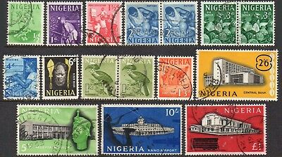 NIGERIA 1961 Set of 13 including 3 pairs used