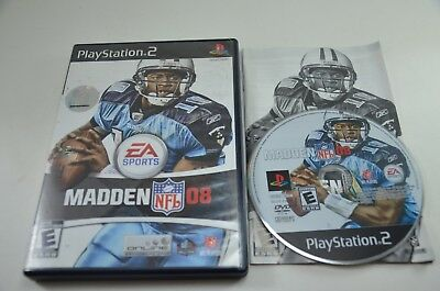 Madden NFL 08 - Sony PlayStation 2 PS2 . COMPLETE in Good Shape CIB