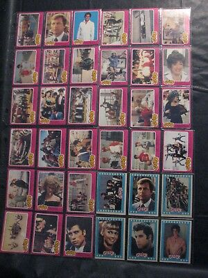 Grease 1978 OPC card lot of 30 + 6 stickers - Canada issue