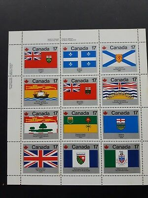 CANADA #832a 17¢ Provincial Flags UL/UR/LL/LR Plate Block Mint Never Hinged