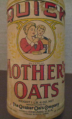 Vintage 1942-Food Advertising Box-QUAKER Cereal-MOTHER'S OATS-Cook-Bake-IA-MO-OH