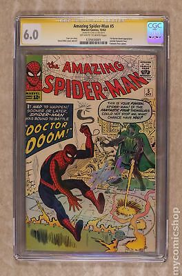 Amazing Spider-Man (1963 1st Series) 5 CGC 6.0 SS Stan Lee 1235634001