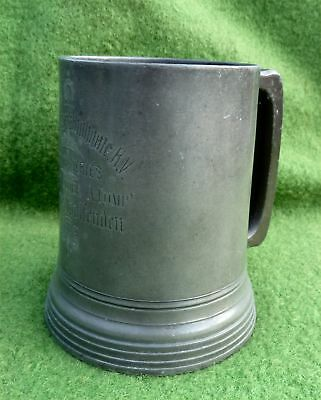 VICTORIAN TANKARD 14th MIDDLESEX (HIGHGATE) VOLUNTEER RIFLES SHOOTING PRIZE 1879