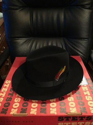 Stetson Imperial Fedora Hat: Size 7 3/8 Black. Barely worn, great shape.