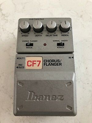 Ibanez Tone-Lok CF7 Chorus / Flanger Guitar Bass Effect Pedal - Used