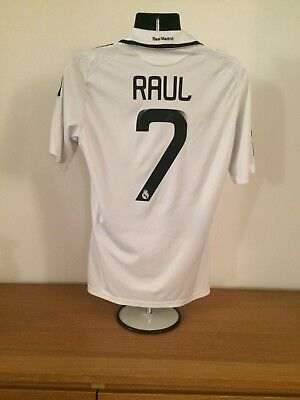 ○ RARE REAL Madrid 2008 2009 Home White Jersey Adidas Size Men ... 9d5a39c48aa78