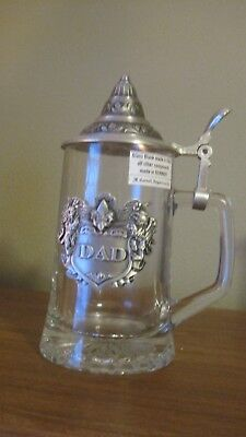 "Vintage Italy / German Stein with Lid ""DAD"""