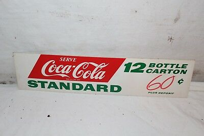 Vintage 1950's Coca Cola Standard 12 Bottle Carton Soda Pop Gas Station Sign