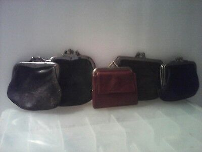 Vintage Lot Of Leather  Change Purses