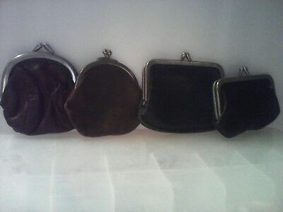 Vintage Lot Of Leather Coin Purses