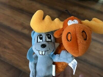 Rocky, The Flying Squirrel & Bullwinkle J. Moose Finger Puppets