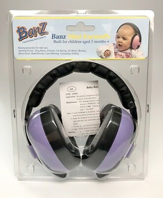 Baby Banz Earmuffs Infant Hearing Protection (Purple) - New in Box
