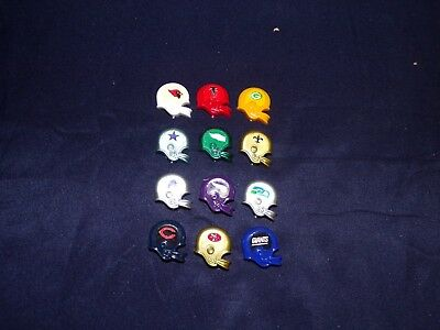 Vintage mix lot of 12 NFL Magnetic Helmets...Dallas Cowboys, St. Louis Cardinals