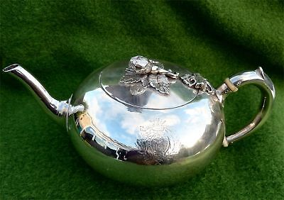 84th REGIMENT OF FOOT SILVER TEA POT BY STEPHEN SMITH - LONDON 1866 - 13.73 ozt