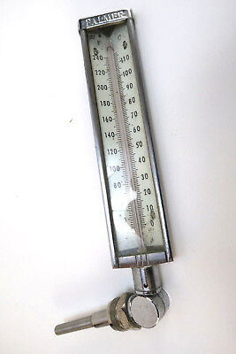 Palmer Vintage Industrial Thermometer Boiler  0-110°F Steampunk Repurposing Only