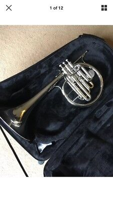 Conn 16E Marching Mellophone Pre-Owned With Hard Case In Excellent Condition