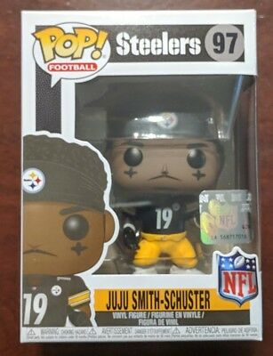 NEW Funko POP! Football NFL Steelers JUJU SMITH-SCHUSTER & Protector