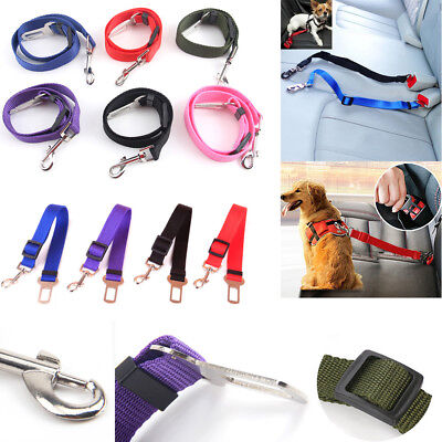 Dog Cat Pet Safety Car Vehicle Strap SeatBelt Adjustable Harness Lead Leash Safe