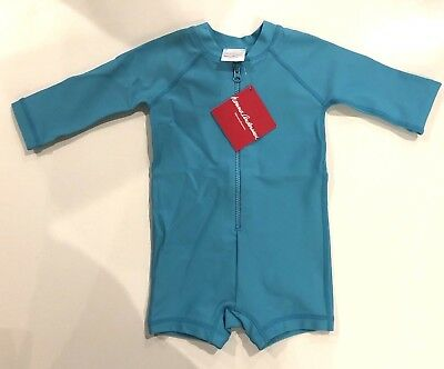 Hanna Andersson Swimmy Rash Guard Swim Suit Size 60 3-6 Month Ocean Blue New NWT