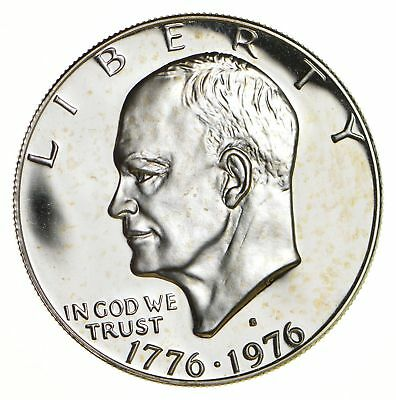 SPECIALLY MINTED - S Mint Mark - 1976-S 40% Eisenhower PROOF Silver Dollar *935