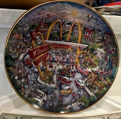 1994 McDonald's Golden Moments Decorative Collector's Plate by Franklin Mint NEW