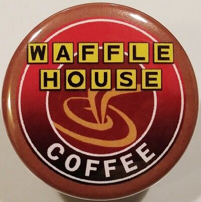 Waffle House PIN - Brown Coffee BUTTON Rare Fast Food Christmas Stocking Stuffer