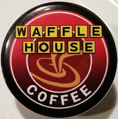 Waffle House PIN - Black Coffee BUTTON Rare Fast Food Christmas Stocking Stuffer