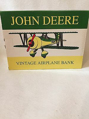 NEW Spec Cast #37516 John Deere Vintage Airplane Bank Limited Edition