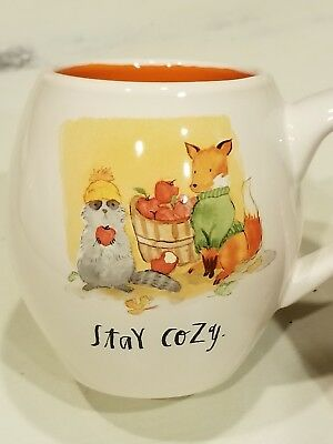 "New Rae Dunn By Magenta Collection ""Stay Cozy""  FALL Coffee Mug"