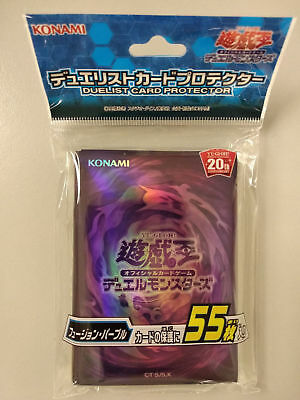 Yugioh Japanese - 20TH ANNIVERSARY Fusion Purple (55pcs) - official Card Sleeve
