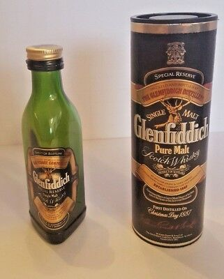 Glenfiddich Container Tin Single Malt Scotch Whisky SPECIAL RESERVE Empty Bottle