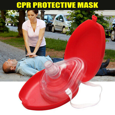 CPR Face Protect Mask One-way Valve Case Kit for First Aid Training Teaching
