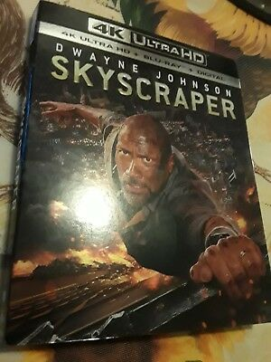 Skyscraper (4K Ultra HD and Blu-ray, 2018) No Digital code, EXCELLENT, W/SLIPCAS