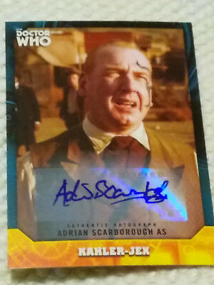 Doctor Who Signature autograph card ADRIAN SCARBOROUGH