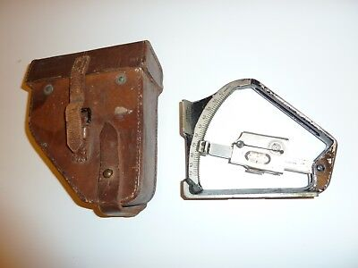 WWI British Army Military Field Clinometer in Leather Case