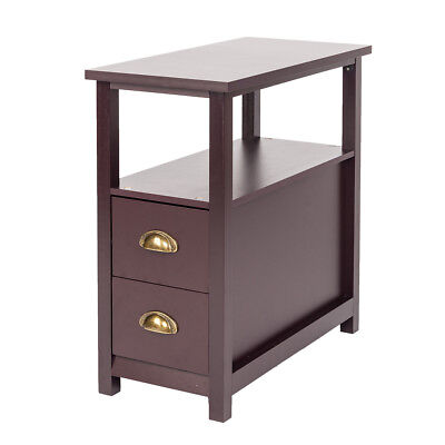 narrow chairside table with drawers chairside end chair side end tables home living room furniture drawers shelf narrow nightstand console accent sofa table wood entry way hallway